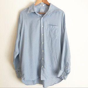 Peter Millar Houndstooth Check Button Up Shirt